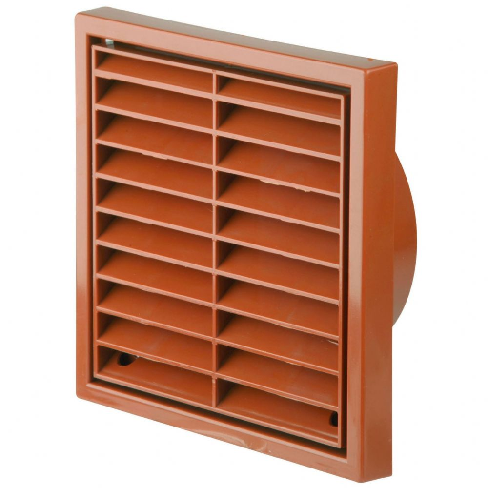"MANRO3 - ROUND DUCT & ACC'S 1172 TERRACOTTA 5"" FIXED GRILLE"